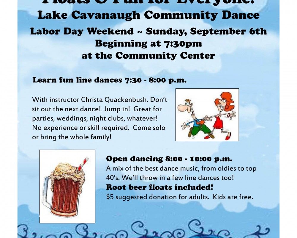 LC Community Dance!  Labor Day weekend!